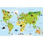Meubles imprimé carte du monde enfant