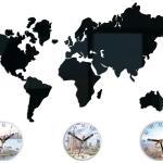"""Cartes Du Grand Mur Horloge Monde, Coloré, Moderne, Cadeau, Fuseaux Horaires, Varsovie, New York, Tokyo 27, 56 """"x 20, 08"""""""