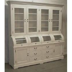 Casa Padrino Shabby Chic Cottage Style Buffet Cabinet Cabinet 215cm Modf7 - Dining Room Cabinet