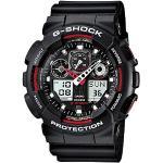 Casio G-SHOCK Homme Analogique-Digital Quartz Montre avec Bracelet en Résine GA-100-1A4ER