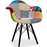 Chaise à manger Dawick Style scandinave Premium Design Pieds foncés - Patchwork Patty Multicolore