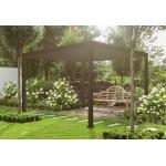 Chalêt-Jardin Pergola Bioclimatique Autoportée Ombréa en Aluminium Anthracite - 3 x 3 m - 15-700987