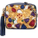 Chanel Pre-Owned sac porté épaule frangé à logo - Bleu