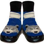 Chaussures bleu marine à motif loups lavable en machine pour enfant