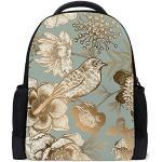 Chehong Sac à dos en polyester léger et pliable Motif oiseaux et papillons