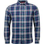 Chemise droite Kaporal Druck en coton bleu marine à carreaux blancs et brodeaux