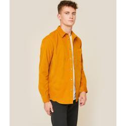 Chemises Monoprix en velours pour homme
