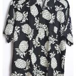Chemise Imprimée Hawaienne - Imprime Ananas Style Tropical Grande Tailles Gl Boutik