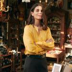 Chemises Monoprix jaunes à manches longues pour femme