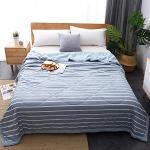 Jetés de lit bleues claires 150x200 cm
