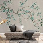 Chinoiserie Cherry Blossom Takeda Jade Wallpaper Mural