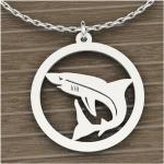 Collier femme en argent & pendentif Requin par CabaneTchanque