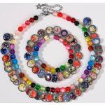 Collier ou Bracelet ethnique porte-bonheur LITCHI, Collier - Multicolore