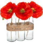 Composition Florale Artificielle Coquelicot 23cm Rouge - Paris Prix
