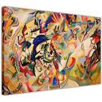 """Composition VII par Wassily Kandinsky sur toile Décoration murale Décoration chambre Impressions photos., Toile Agrafes Bois dense, 08- A1 - 30"""" X 24"""" (76CM X 60CM)"""