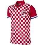 copa Croatia 1992 Retro Football Shirt T-Shirt rétro avec col de Football Homme L Rouge/Blanc