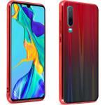 Coque Huawei P30 Design holographique Brillant Rigide Collection Aurora rouge