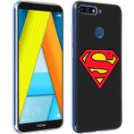 Coque Huawei Y6 2018 / Honor 7A Superman Protection Silicone Gel DC Comics Noir