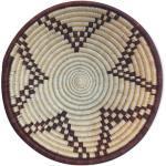 Corbeille africaine tressée panier tissé ethnique et naturel. Boswana.