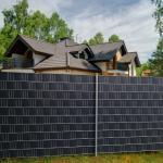 Costway Brise-Vue en PVC 35mx19cm 630g/m² avec 20 Clips de Fixation pour Jardin Protection de la Vie Privée Gris Foncé
