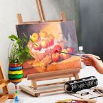 Costway Chevalet de Table en Bois de Hêtre Réglable en Inclinaison et en Hauteur de 74,5 à 97 CM pour Peinture et Exposition