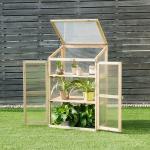 Costway Mini Serre de Jardin 60x45x100CM avec Etagères à 3 Niveaux pour Jardin/Balcon/Porche