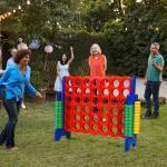 Costway Puissance 4 Géant pour Enfants et Adultes avec 42 Jetons Circulaires Idéal pour Intérieur et Extérieur