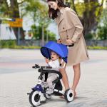 Costway Tricycle Vélo 4 en 1 Evolutif Pliable pour Enfants 1-5 Ans Charge 25KG