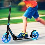 Costway Trottinette Sport avec Plateau en Aluminium Poignée Ajustable pour les Enfants de 10 ans et plus Bleu