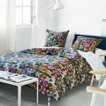 Courtepointe imprimée en percale de coton multicolore 140x200