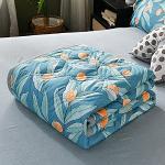 Couvre Lit Matelassée, Chickwin Mode Impression Doux Microfiber Couvre-lit Couverture de lit Jeté de Lit Dessus de Lit - Réversible Imprimé en Dessins Animés (Orange,150x200cm)
