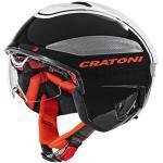Cratoni Vigor Casque de vélo Mixte, Black/White/Red Glossy, Small
