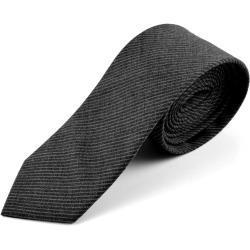 Cravate en laine grise Underline