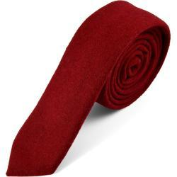 Cravate rouge fait main