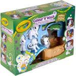 Crayola - Washimals - Mes Animaux à Colorier - Coffret Safari - Loisir créatif - washimals - Color N wash - à partir de 3 ans - Jeu de coloriage et dessin