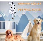 Horloges gris acier à motif chiens