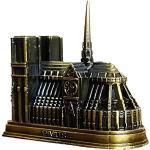 CULER Acier Notre Dame De Paris Modèle D'Architecture Artisanat Décoration Notre Dame De Paris Miniatures Décoration Accessoires De Bureau