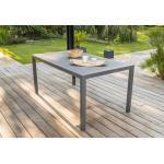 DCB Garden Table de Jardin Miami en Aluminium Gris Anthracite - 160 x 90 cm - MIAMI-TB160