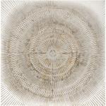 Déco murale Mandala , métal, blanc 100x100 cm