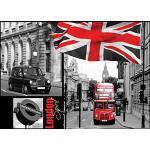 Delester Design Décor mural Papier peint - Bus rouge et taxi Londonien ambiance London