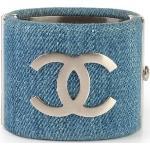 Denim CC Cuff Bracelet Chanel Vintage