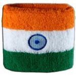 Digni® Poignet éponge avec Drapeau Inde, Pack de 2