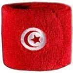 Digni® Poignet éponge avec Drapeau Tunisie, Pack de 2
