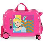 Disney Princesses Valise Enfant Rose 50x38x20 cms Rigide ABS Serrure à combinaison 34L 2,1Kgs 4 roues Bagage à main