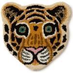 Doing Goods Tapis de pied Cloudy Tiger Head 32 x 30 cm