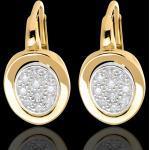 Dormeuses alcôve or jaune 18 carats et or blanc pavé - 0.24 carats - 2