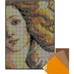 dot on Art Botticelli – Poster à monter soi-même – 50 x 70 cm Mosaïque Kit de bricolage – connu par « Die Höhle der Lion » dot on art DIY