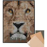 Dot on art   Lion posters DIY – 30 x 40 cm Kit de bricolage – Broderie – Réfère de la grotte du lion à art Diy