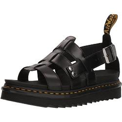 Dr.Martens Womens Terry Black Leather Sandals 41 EU