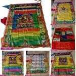 Drapeau Bouddhiste Tibétain Porte-Bonheur Décoration Murale Suspendue En Soie Drapeaux Bannières Accessoires Drapeau De Prière De Bouddha Décors Décoration De Maison En Forme De Vent Cheval